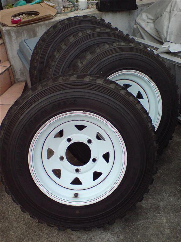 レンジローバーMANGELS 8 Spoke Steal Wheelの単体画像