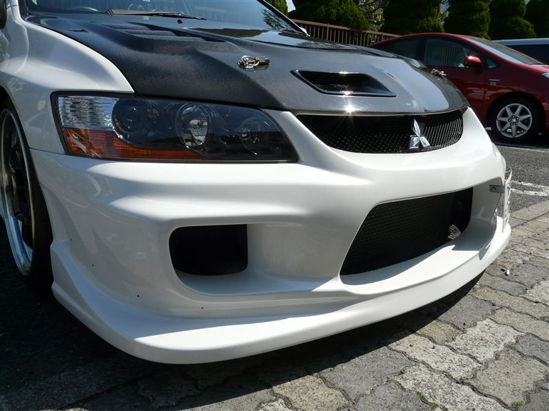 ランサーエボリューションIX_MRings ings N-SPEC FRONT BUMPER FRP(LANCER EVOLUTION Ⅷ・Ⅸ CT9A)の単体画像