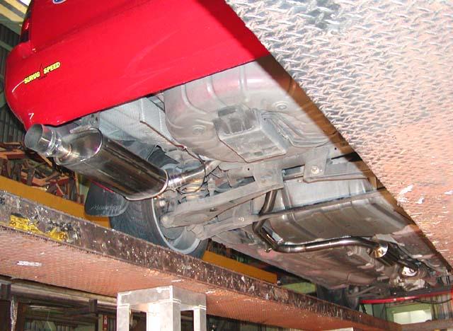 モンデオ ワゴンSURUGA SPEED One Off マフラーの単体画像