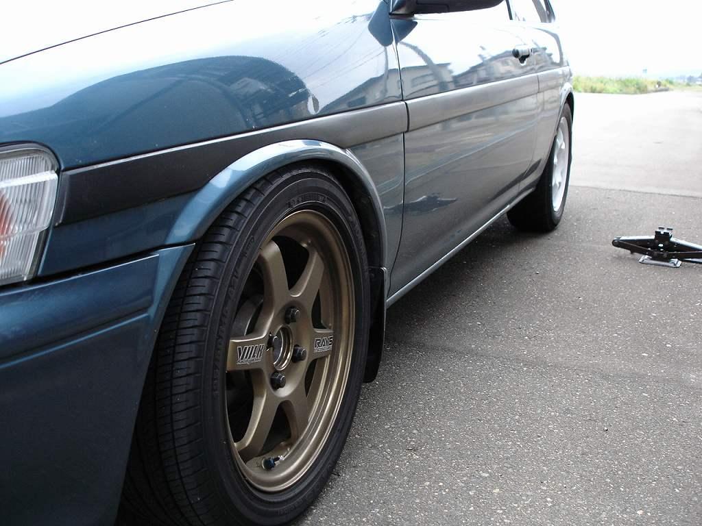 カローラIIRAYS VOLK Racing Wheel TE37の単体画像