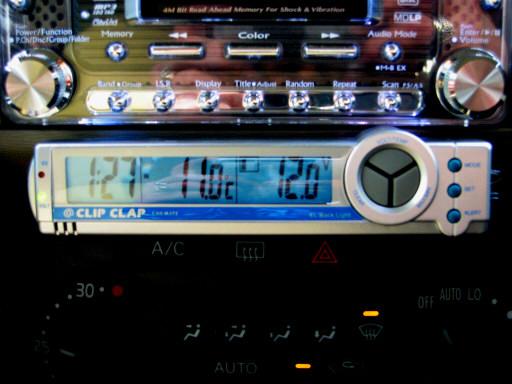 CAR MATE クリップクラップ電圧&サーモメーター