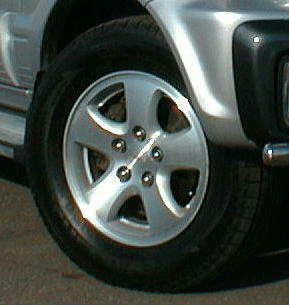 テリオスダイハツ CX純正アルミホイールの単体画像