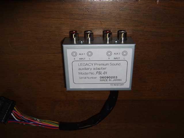 テックコーポレーション レガシィ純正BL/BP用2系統外部入力(AUX)アダプター