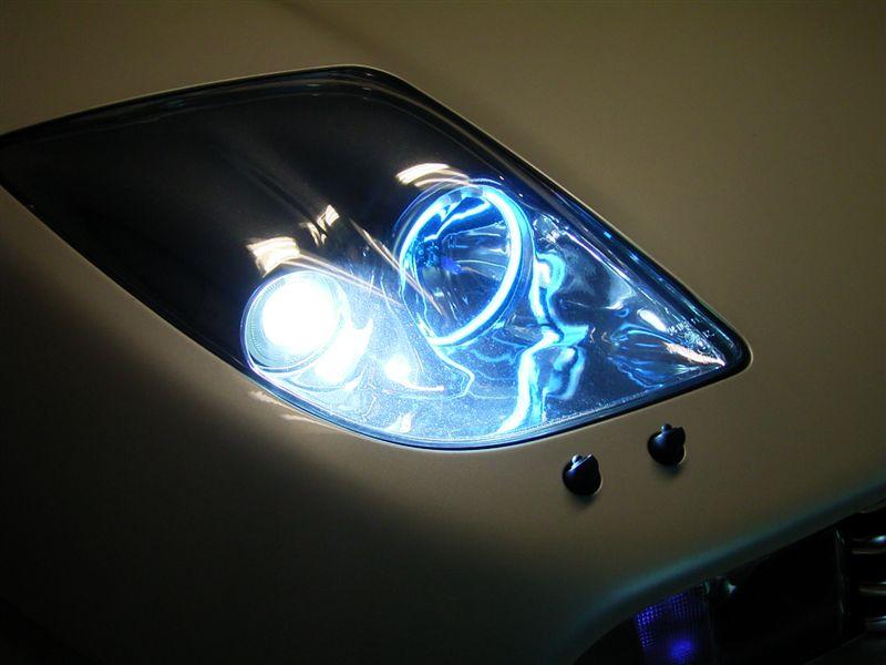 クーペフィアット自作ヘッドライト 自作ヘッドライトの単体画像