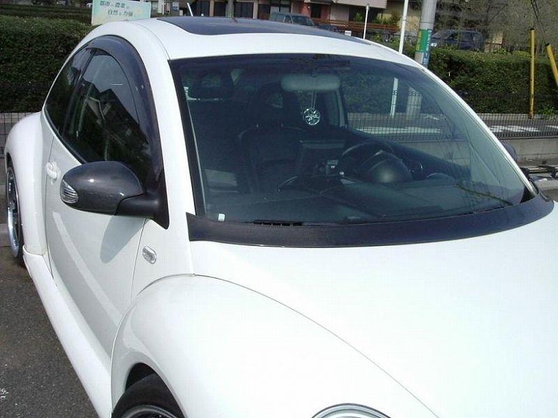 VW純正 純正後期ミラーカーボン加工