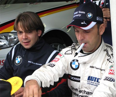 BMW GermanyのAugusto Farfus(アウグスト・ファルファス、左)と、Jorg Muller(ヨルグ・ミューラー)