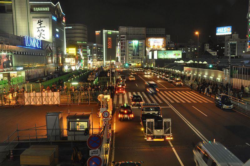 新宿テラスシティイルミネーション2008 甲州街道の夜景