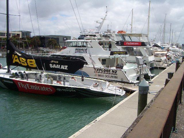 ヨットがいっぱいの<br /> アメリカズ・カップ・ビレッジです。<br />