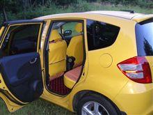 シートカバーオーダーメイドx 黄色xオレンジ:ケバい