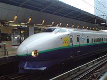 朝から東京駅でポケモン新幹線