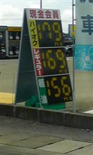 今時のガソリン価格・・・。
