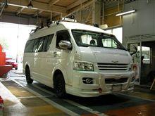 初のユーザー車検&8ナンバー取得/ハイエース200トランポ