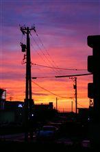 トワイライトの夕日