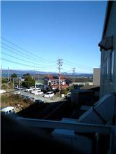 会社から富士山が見えた