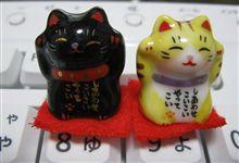 那須湯本みちのくで買った招き猫