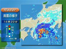 台風通過中・・・・ぬけたかな?・・・今夜の京橋
