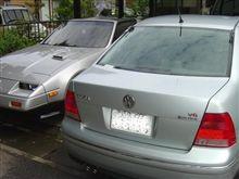 ★ドアーミラーの三角部品 と洗車!