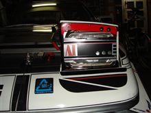 AW11のライトプロテクター、加工