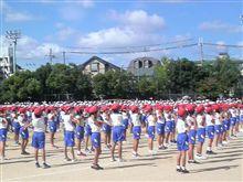 近くの小学校で運動会がありました!