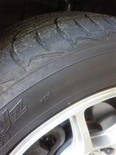 タイヤやばい?