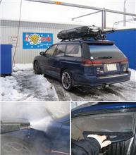 冬のコイン洗車(ロングコース300円@札幌)の巻