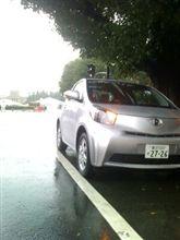雨の中iQ試乗会
