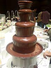 本日のスイーツ 「チョコレートファウンテン」