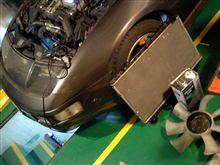 Z32フェアレディーZのラヂエター交換&油類交換&穴塞作業