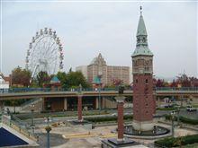 倉敷駅から見たチボリ公園