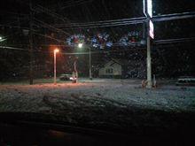 フェデラルで雪道。