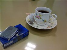 オイル交換でコーヒータイム(⌒-⌒; )
