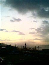 日の出前です。