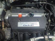 今日初めてエンジン見た ステップワゴン