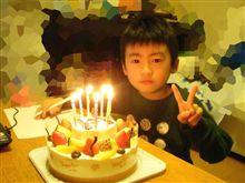 一日遅れの 息子の誕生日のお祝い
