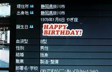 今日は誕生日♪
