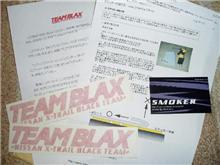 TEAM BLAX ステッカー届きました!!☆