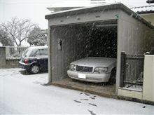 外は一面雪景色