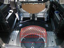 サードシート吊り下げ式サブウーハー設置法(エクシーガ)