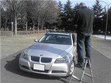 BMW325iツーリングの取材