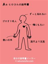 血液型 自分の説明書