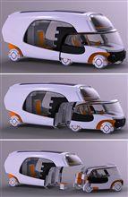 運転席が軽自動車になる未来のキャンピングカー