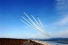 今日のブルーインパルス♪海沿いから(^^)-090226