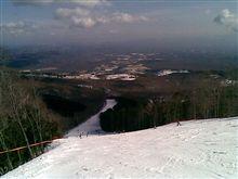 今日もスキー^^
