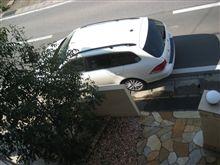 愛車を上から撮影