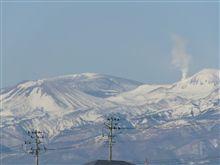 【吾妻山】 噴気が綺麗に見えました!