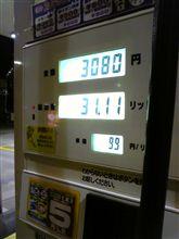 ガソリン給油(^^)ノ