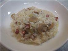 リゾット(もどき)と中華風スープ