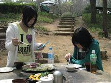 森林公園で花見&BBQ!