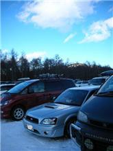 2月12日の雪山