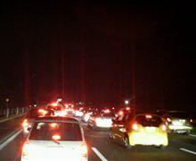 渋滞はじまってる